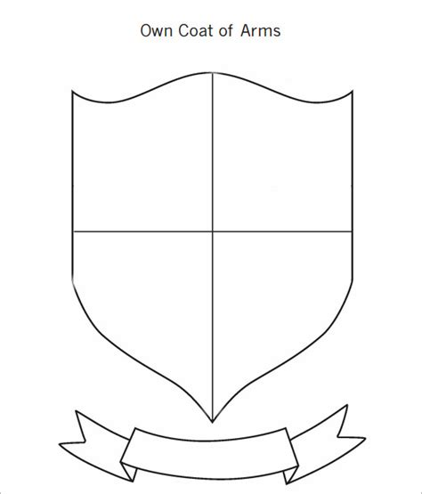 coat of arms template for students the gallery for gt blank family crest printable