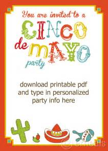 free printable cinco de mayo invite craftbnb