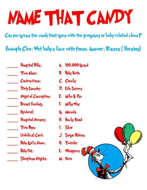 Dr Seuss Baby Shower by Dr Seuss Shower Name That By Allthingsparty