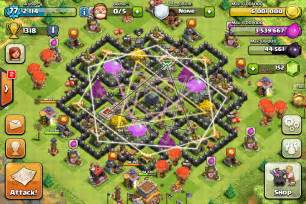 The Mantis Best Base Layout For Town Hall 7 Clash Of Clans Source » Ideas Home Design