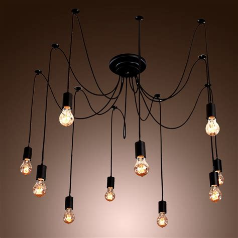 Diy Bulb Chandelier Vintage Edison Industrial Style Diy Chandelier Retro Pendant Light Ceiling Ls Ebay