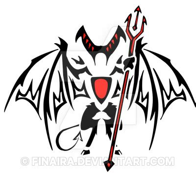 devil tribal design by finaira on deviantart