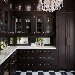Black Stained Kitchen Cabinets by Kitchens Butler S Pantry Espresso Stained Glass Front