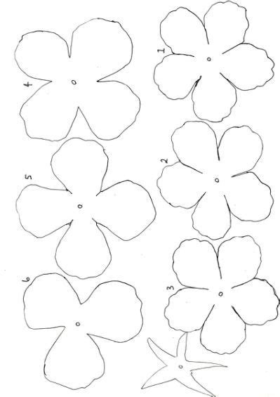 Flower Paper Craft Template - best 25 paper flower template printable ideas on