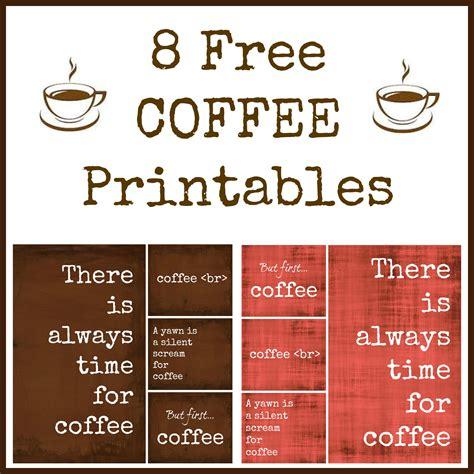 free printables 8 free coffee printables