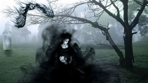 hd wallpaper for pc ghost full hd wallpaper ghost lady gothic dark fog cemetery