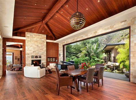 modern indoor outdoor living   pacific rim influence