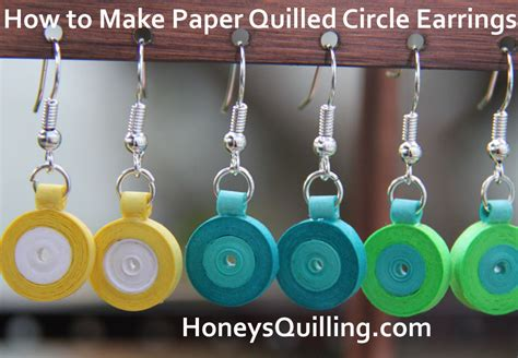 Paper Earrings Tutorial - free tutorial for paper quilled circle earrings honey s