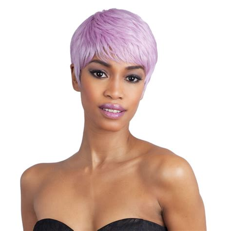 freetress short hair styles hailey freetress equal synthetic wig boy cut short straight exotic color pink ebay