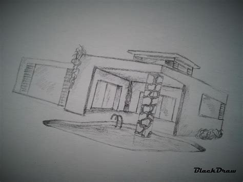 drawing of a house modern house how to draw a modern house 2 youtube