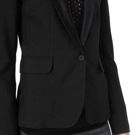 Blazer Dominik Blazer maje dominic velvetcollar blazer in black lyst