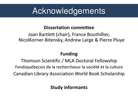 thesis acknowledgement funding characterizing clinical questions of occupational