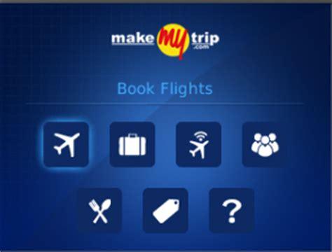 make my trip calendar makemytrip app now available at blackberry app world