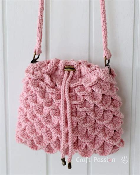 crochet pattern crocodile stitch bag crocodile stitch drawstring purse free crochet pattern