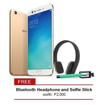 Oppo F3 Plus 64 Gold oppo f3 plus 64gb gold with free bluetooth headphone and
