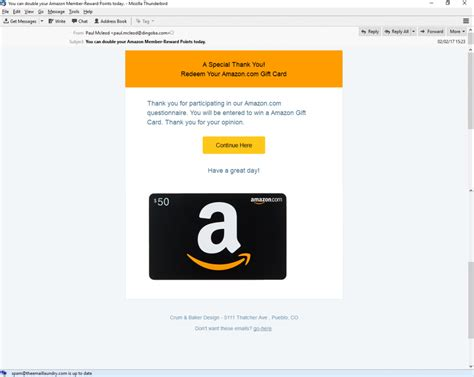 Amazon Gift Cards Email - redeem amazon gift card phishing email phishing user training