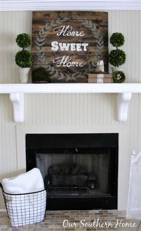 Budget Cottage Mantel Wall Makeover Sweet Home Cottage Style Fireplace Mantels