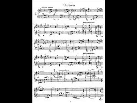 Buku Piano Heller Op 45 heller etude op 45 no 2 l avalanche allegro