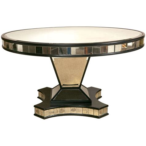 Pedestal Base For Dining Table Mid Century Mirrored Pedestal Base Dining Table At 1stdibs
