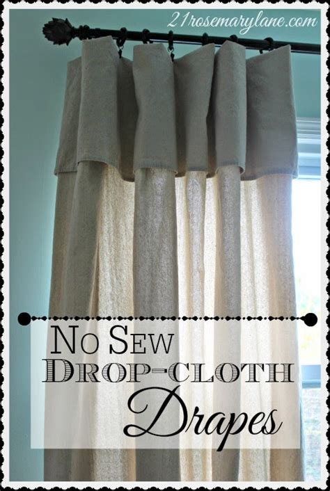 no sew drop cloth curtains 21 rosemary lane no sew drop cloth drapes they really