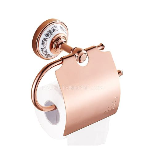 rose gold rolls toilet paper holder with cell phone shelf new modern