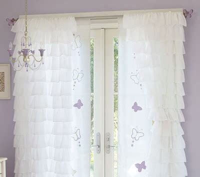 Christine Inspired White Ruffled Curtains The Perfect Ruffled Curtains Nursery