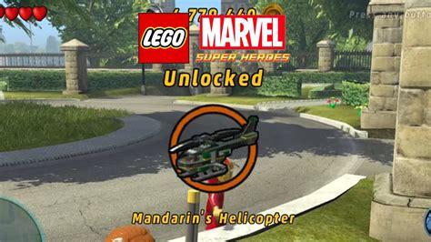 lego marvel boat unlock lego marvel unlock mandarin s helicopter gameplay 2nd