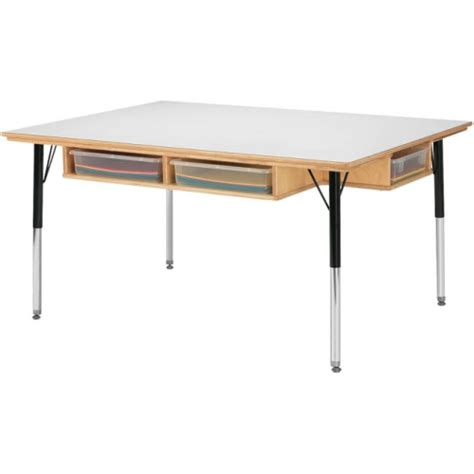 craft table with storage jonti craft table w storage 6 paper trays jonti