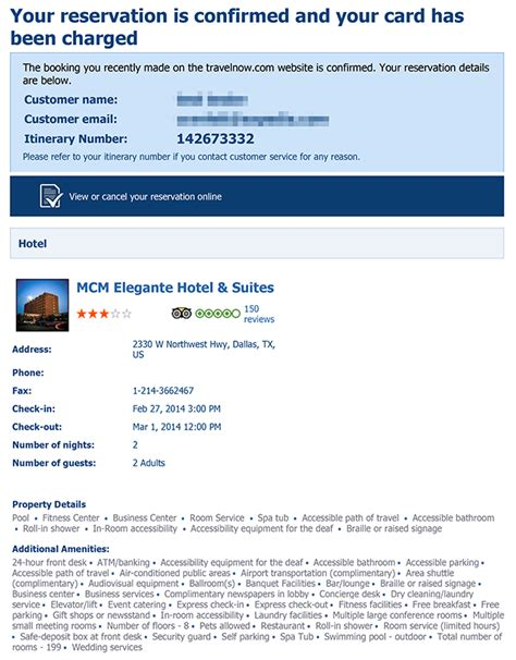 hotel confirmation email template booking customer service complaints department