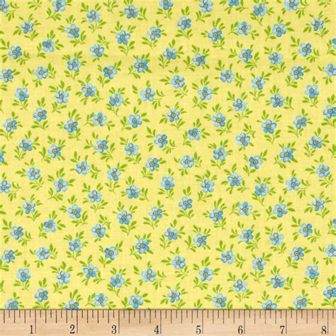 calico upholstery calico collection floral yellow blue green discount