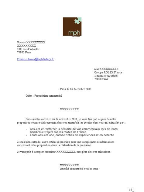 Exemple De Lettre Commerciale Publicitaire Proposition Commerciale Exemple