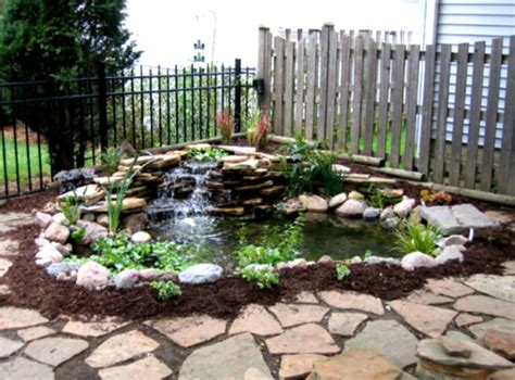 building a backyard garden diy waterfall pond ideas water gardens ideas goodhomez com