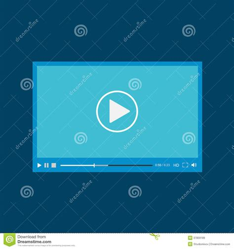 modern flat video player interface cartoon vector