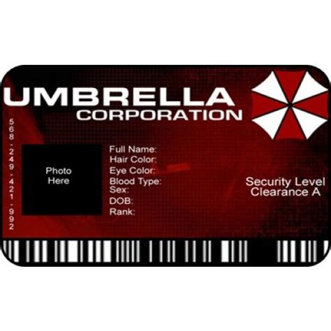 Umbrella Corporation Id Card Template by Umbrella Corporation Costume Id Card From The Identity