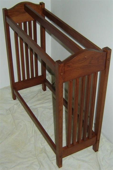Blanket Quilt Rack by Handmade New Solid Cherry Wood Mission Style Quilt Rack