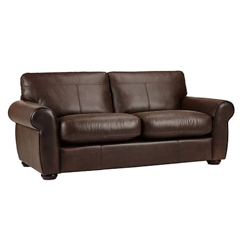 Buy John Lewis Madison Semi Aniline Large Leather Sofa Semi Aniline Leather Sofas