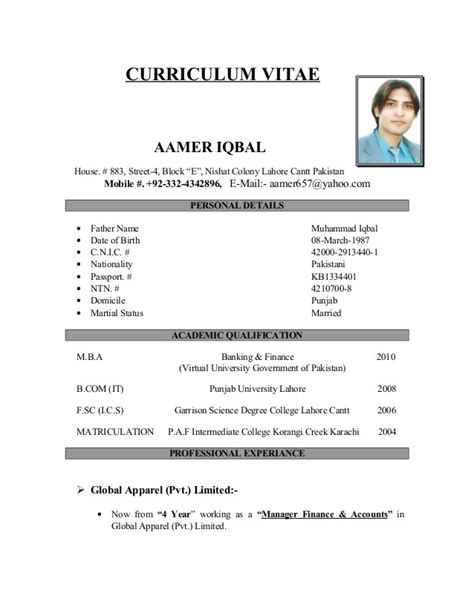 Exemple De Cv Simple Gratuit by Curriculum Vitae Francais Exemple Simple Mod 232 Le Cv