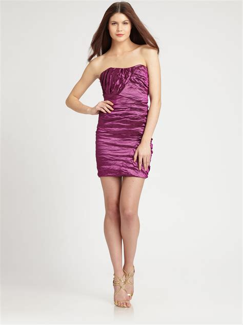 Dress In lyst miller strapless mini dress in purple