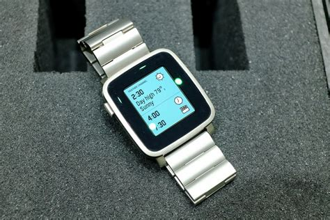 Pabble Time pebble time steel