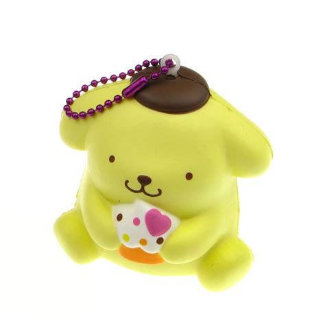 Squishy Boneka Pom Pom Purin pom pom purin rising squishy charm 163 5 99 buy at something kawaii uk