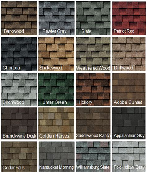 roofing colors some of the many roofing shingle color choices capecod