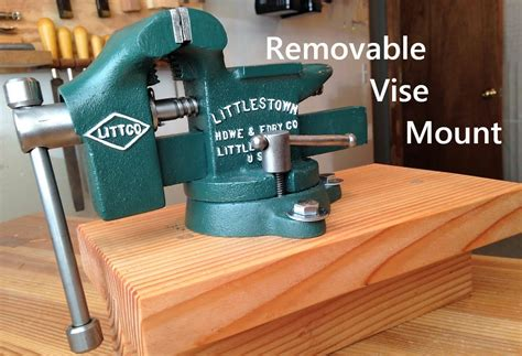 removable bench vise mount   workbench vise bench
