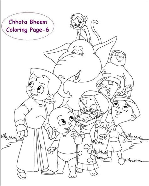 chota bheem coloring pages images colouring pages chota bheem kids page chota bheem