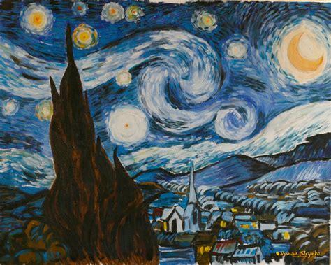 New painting of mine based on van gogh starry night