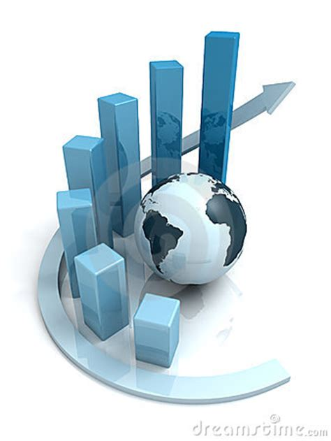 global business growth blue bar graph  arrow royalty  stock images image