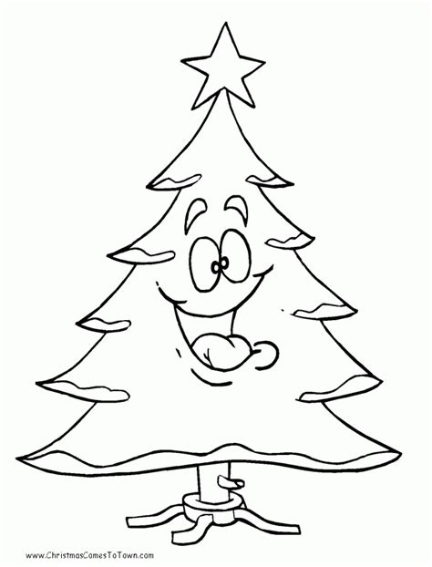 free christmas trees coloring home