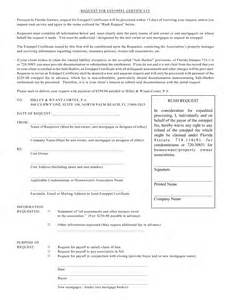 estoppel certificate template what is a estoppel certificate finances and credits