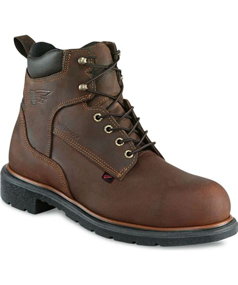 round reed boat red wing men s 6 inch waterproof boot 415 byred wing