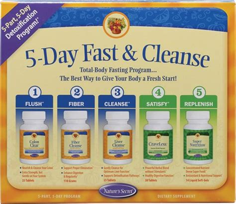 One Day Detox Kit by Nature S Secret 5 Day Fast Cleanse Kit 5 Ct Jet