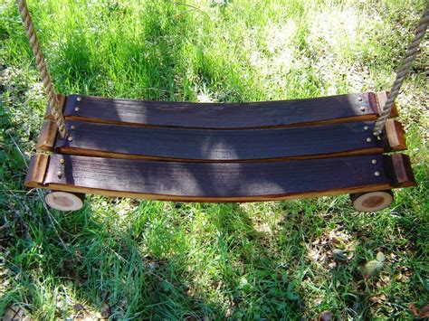 cool tree swings 15 cool diy projects from recycled wine barrel wood